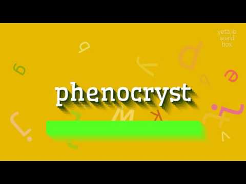 "How to say ""phenocryst""! (High Quality Voices)"
