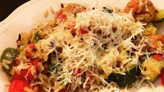 Sunday Supper: Cooking with Heather and Matt ~ Italian Inspired Chicken Sausage Veggie  Skillet