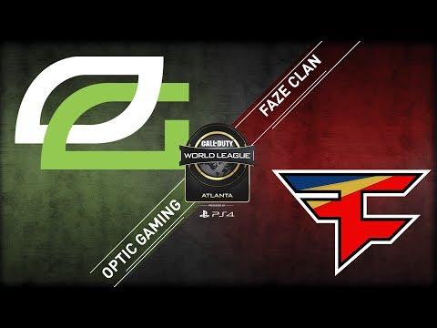 OpTic Gaming Vs FaZe Clan | CWL Atlanta Open 2018 | Alpha Stream | Day 1