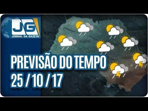 Previsão do Tempo - 25/10/2017