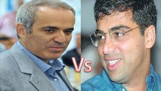 Repeat youtube video Kasparov destroyed Anand (Great Attacking Chess)