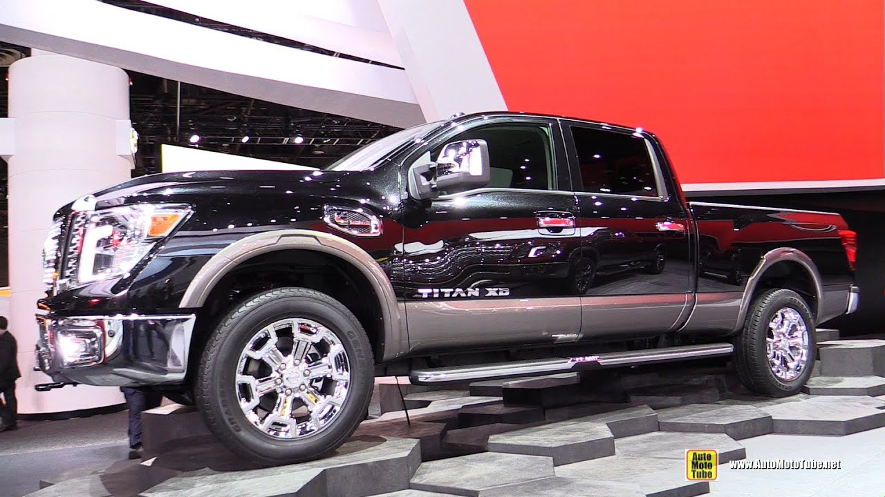 2016 nissan titan xd sl 4x4 exterior and interior walkaround debut at 2015 detroit auto show. Black Bedroom Furniture Sets. Home Design Ideas