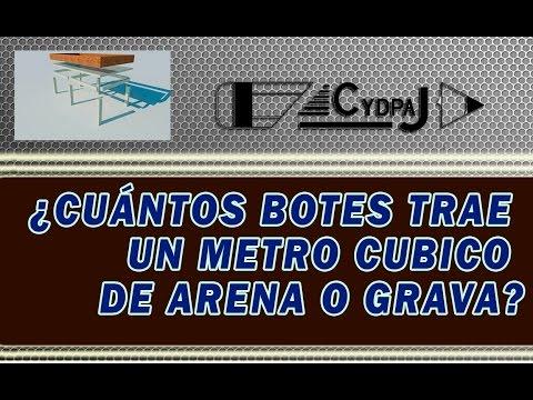 Cuantos botes trae un metro cubico de arena o grava for Cuantas tilapias por metro cubico