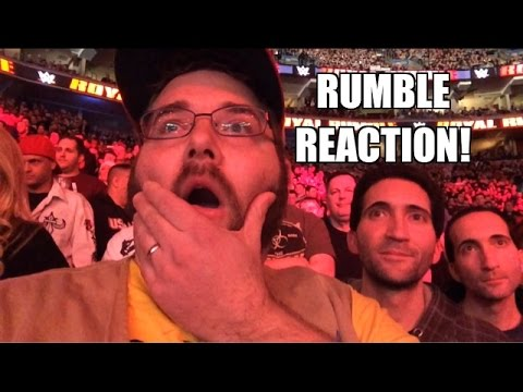 Grim's EPIC REACTIONS to 2015 WWE ROYAL RUMBLE! Roman Reigns Wins! Bryan Gets Eliminated!