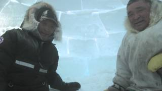 How To Build An Igloo -- Field Research -- Gjoa Haven, Nunavut, Canada