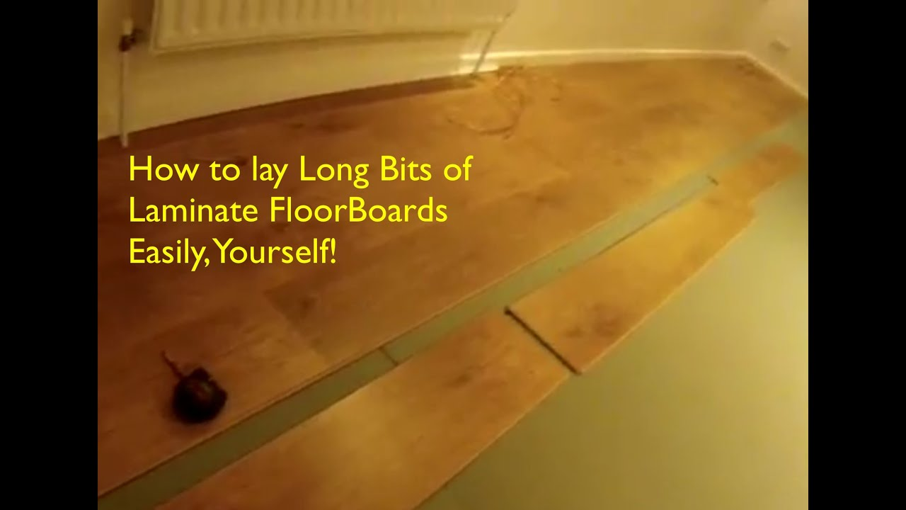 How to Lay Laminate Floor Boards  Stress Free  YouTube