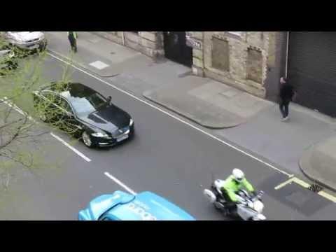 Motorcade in London (David Cameron I believe)
