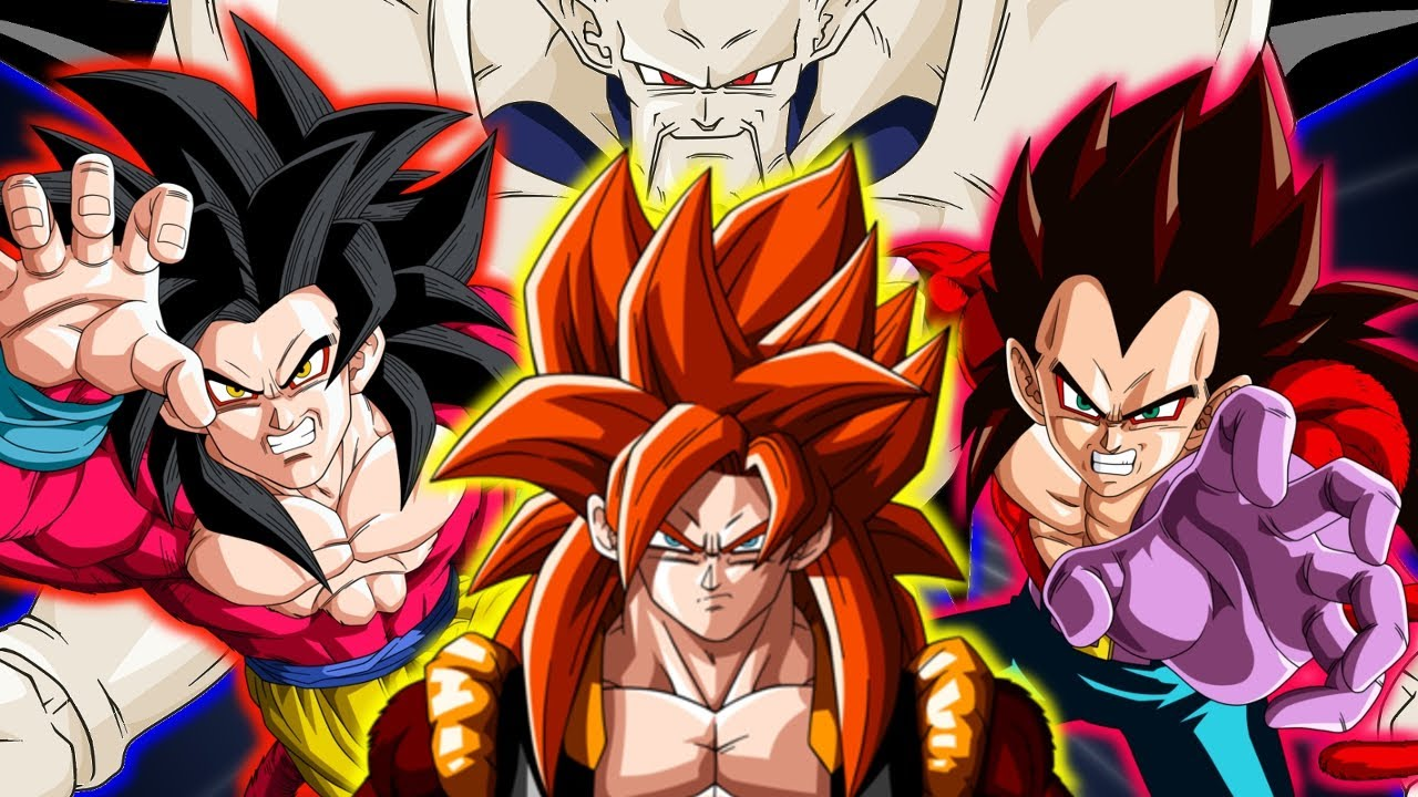 Goku Ssj4 Vs Goku Ssj3: SSJ4 Goku & SSJ4 Vegeta Vs Omega Shenron