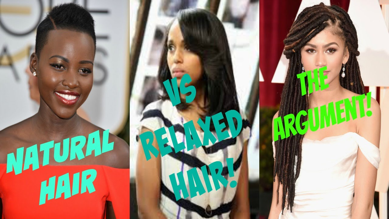 Relaxed Hair Vs Natural Hair Youtube