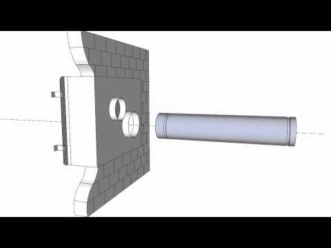 wood pellet stove hook up