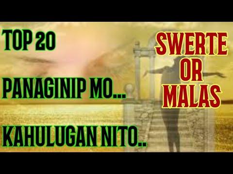 Top 20 Panaginip at ang Kahulugan Nito