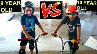 9 YEAR OLD VS 10 YEAR OLD - GAME OF SCOOT