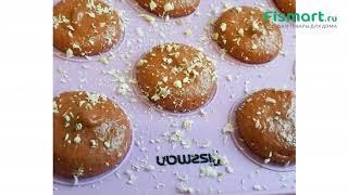 Все для выпечки: обзор Коврик с разметкой для выпечки пирожных макарун Fissman 38 x 28 см 7399