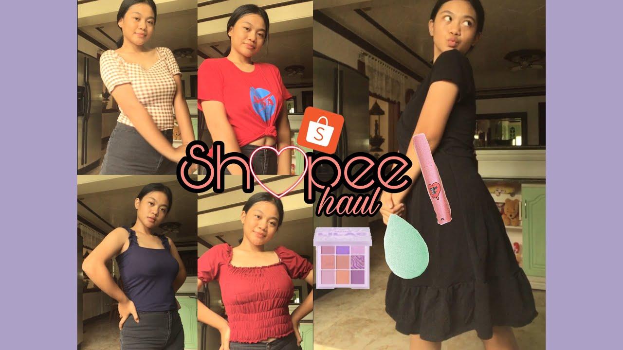 Shopee Haul 2020 |Philippines ( murang clothes, makeup product/brushes)|Erica Lazaga