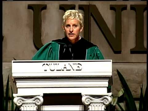 Ellen at Tulane Commencement 2009