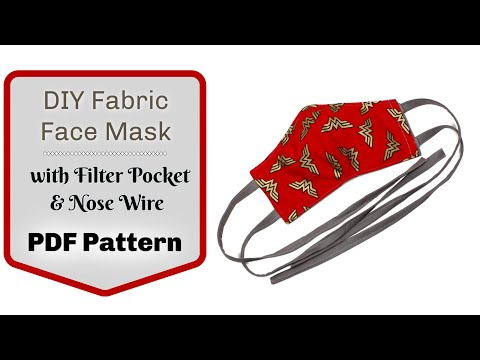 How To Make A Handmade Face Mask With A Flexible Nose Wire, Filter Pocket And Elastic Or Fabric Ties
