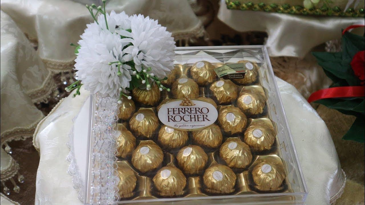 Gubahan Hantaran Simple Kue Bahulu Ferrero Rocher