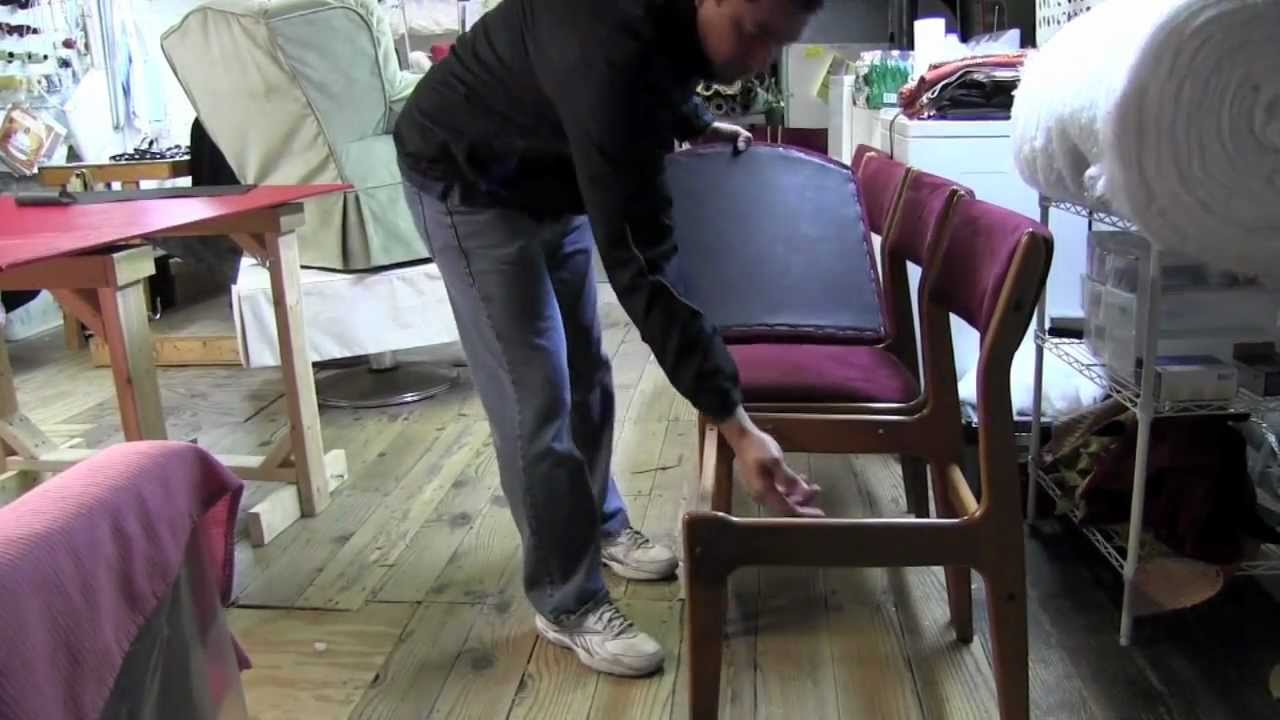 How To Upholster Dining Room Chairsmov YouTube