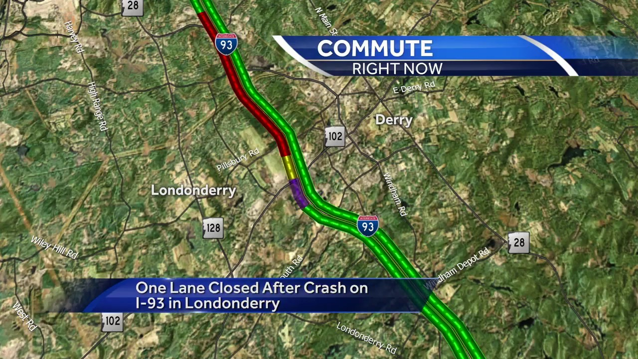 Nh Traffic Map.Serious Crash Snarls Traffic On I 93 South In Nh Youtube