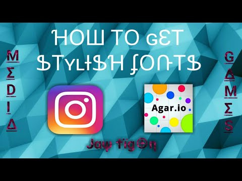 How To Get (Cool/Stylish) Fonts On Android  For Games And Social Media : Cool Fonts For Agar.Io 😄