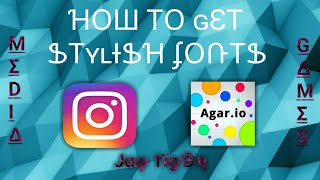 How to get Cool/Stylish fonts on Android  for Games and Social Media : Cool Fonts for Agar. Io 😄