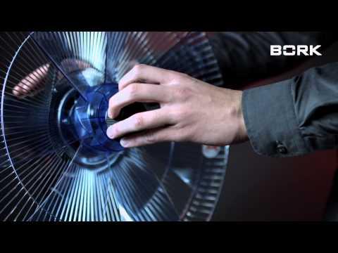 BORK P504 видео инструкция по сборке вентилятора Борк
