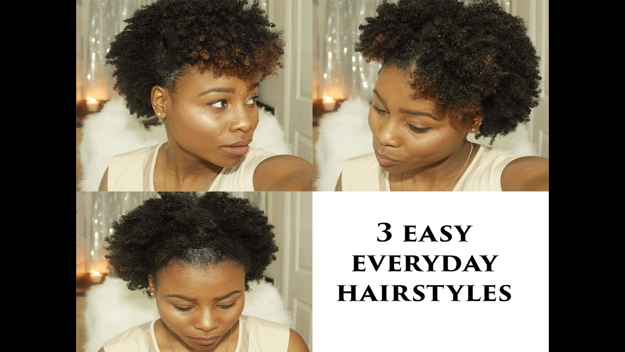 everyday hairstyles for natural hair - youtube