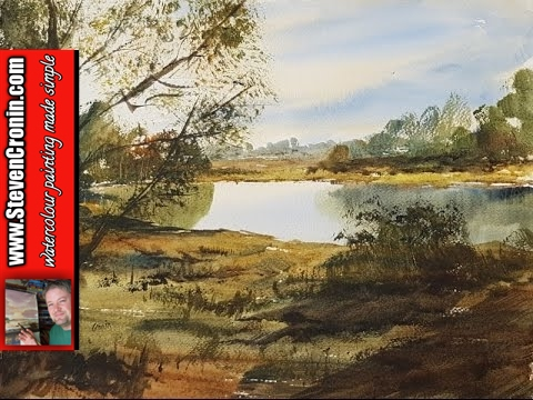 Sutton Park Watercolour Painting Demonstration: I painted this watercolour landscape from a photograph I took last week during a stroll around Sutton Park near Streetly Gate.  -~-~~-~~~-~~-~- Pledges on my Patreon page help me continue to make painting videos and keep it sustainable.  Watch new watercolour painting videos every week created exclusively for patrons-only at http://www.patreon.com/StevenCronin The paintings are for sale in my eBay shop at http://stores.ebay.co.uk/original-paintings-by-steven-cronin My watercolour materials are for sale on Amazon at Fabriano Watercolour Paper 50 pack of quarters (15x11in) 130lb (280gsm) NOT surface  http://amzn.to/2lH8uwD Pro Arte Ron Ranson Hake Brush - Large http://amzn.to/2k9daIU Winsor & Newton Cotman 21ml Water Colour Tubes Raw Sienna http://amzn.to/2l9e0tE Burnt Umber http://amzn.to/2l9lE75 Light Red http://amzn.to/2l9gqZg Ultramarine http://amzn.to/2l4Q7Ux Lemon Yellow Hue http://amzn.to/2khD95Y Payne's Gray http://amzn.to/2khvV26 Alizarin Crimson Hue 003 http://amzn.to/2lz52qx You can help me by using the following link for general shopping on Amazon http://amzn.to/2lyQAia Subscribe now and never miss another video http://www.youtube.com/user/watercolourworkshop?sub_confirmation=1 My other social media sites http://www.facebook.com/steven.cronin.watercolours http://www.twitter.com/#!/StevenCronin https://www.instagram.com/steven.cronin.art -~-~~-~~~-~~-~-
