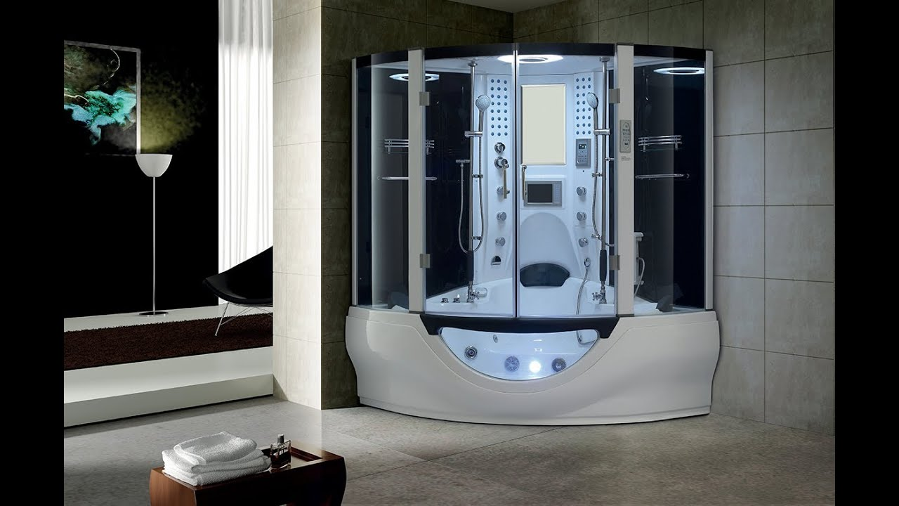 Luxury valencia steam shower by youtube for Cabinas de ducha