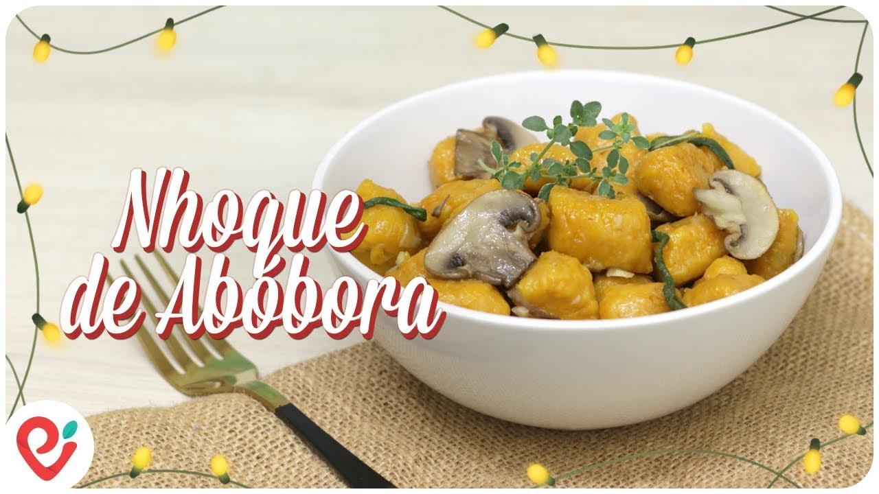 Nhoque de Abóbora com Cogumelos e Sálvia (Especial de Natal)