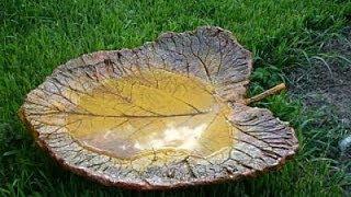 Как сделать фигурки для сада -- красивый лист