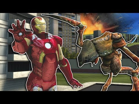 AVENGERS DEFEND THE CITY FROM ALIEN INVASION! - Garry's Mod Multiplayer Gameplay - Gmod Iron Man thumbnail