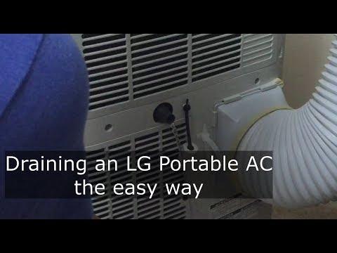 Draining an LG Portable AC