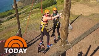 Sleepaway Camp For Grown-Ups: Jenna And Natalie Visit 'Campowerment' | TODAY