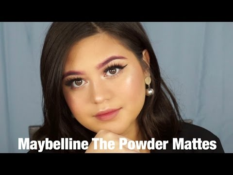 Maybelline The Powder Mattes review + swatches and Lipstick Only Makeup Challenge | SarahAyu