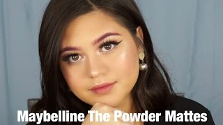 Maybelline The Powder Mattes review swatches and Lipstick Only Makeup Challenge SarahAyu