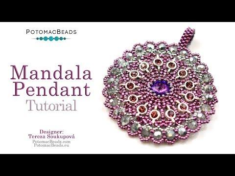 Mandala Pendant - DIY Jewelry Making Tutorial by PotomacBeads