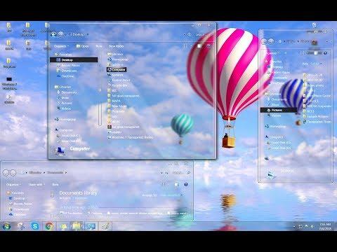 Transparent Windows 7 Download Tutorial (Full Glass Theme)