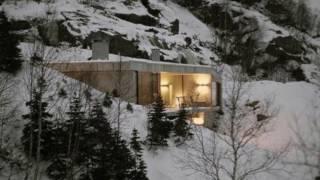 Современный дом в горах Норвегии