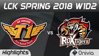 SKT vs ROX Highlights Game 1 LCK Spring 2018 W1D2 SK Telecom T1 vs ROX Tigers by Onivia