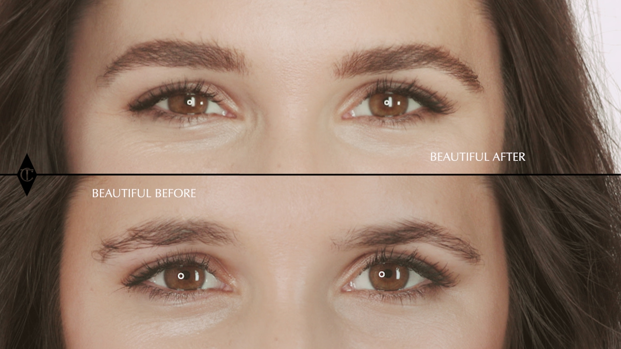 Eyebrows Tutorial For Uneven Brows Charlotte Tilbury Youtube