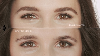 Eyebrows Tutorial For Uneven Brows | Charlotte Tilbury