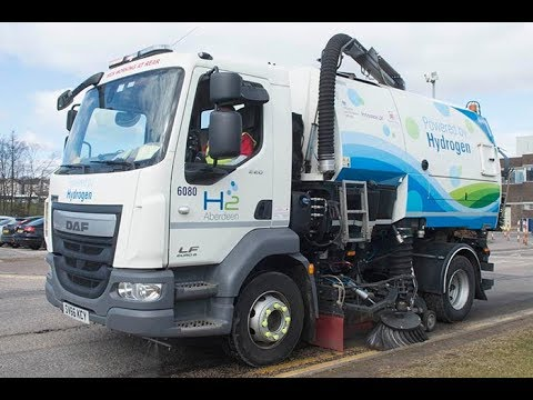 Aberdeen City Council Hydrogen Powered Road Sweeper HD 1080p