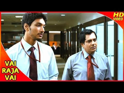 Vai Raja Vai Tamil Movie | Scenes | Sathish Gets Sacked From Work | Gautham Karthik | Vivek