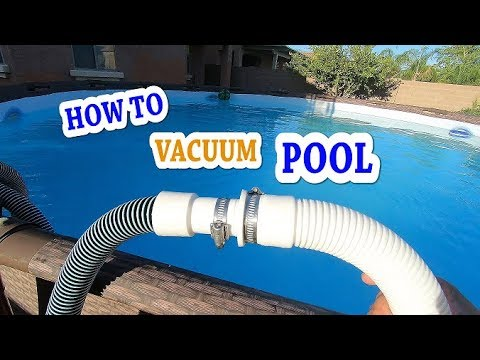 HOW TO VACUUM POOL SAND FILTER