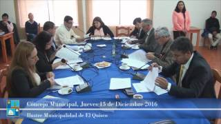 Concejo Municipal Jueves 15 de Diciembre 2016