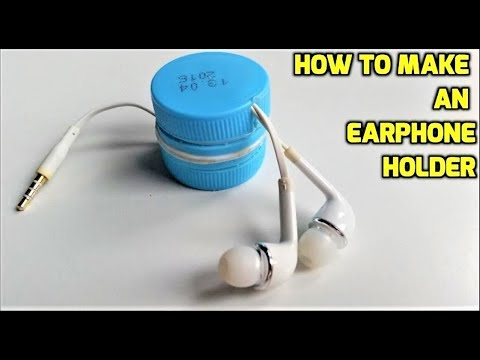 How to make an earphone holder from plastic bottles