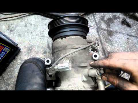 Проверка кондиционера на накачку воздуха 3S-Fe