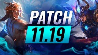BEST Champions TIER Lİst – League of Legends Patch 11.19