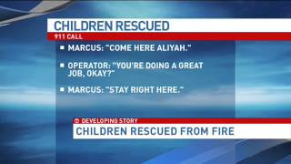 Hear dramatic 911 call from poised 13-year-old boy trapped in house fire with his little sister